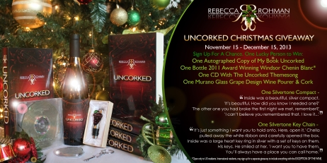 Uncorked Christmas Giveaway Ad