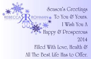Rebecca Rohman Happy Holidays Card