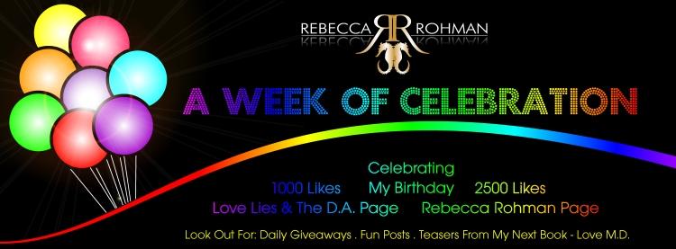 Rebecca Rohman's Week of Celebration